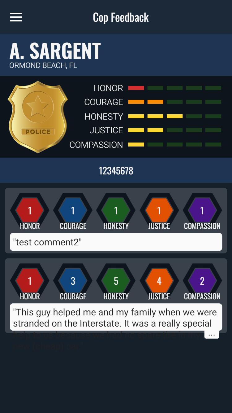 Cop Feedback Mobile App image